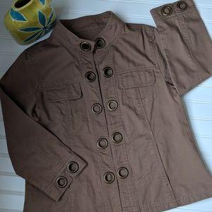 Jackets & Blazers - Brown Grommet Jacket